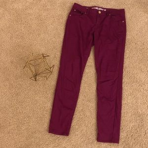 Purple Skinny Pants by Mossimo Target